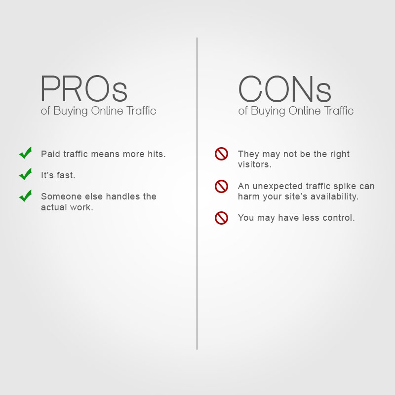 Why Buy Online Traffic Pros And Cons Social Metrics Pro