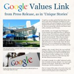 Google Values Link from Press Release, as in 'Unique Stories'